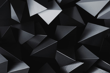 Elements of silvery paper for futuristic abstract background