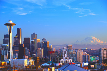 Sunset Seattle Wall mural