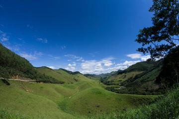 Montain valley landscape