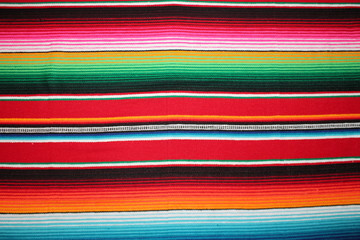 Mexican poncho cinco de mayo blanket Mexico serape background  traditional rug poncho fiesta  with stripes stock, photo, photograph, picture, image