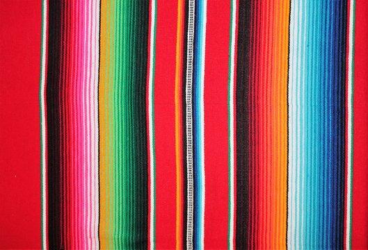 poncho Mexican cinco de mayo rug blanket serape fiesta traditional Mexico poncho background Mexican stripes copy space blanket minimal simple cinco de mayo serape pattern background  -  stock photo