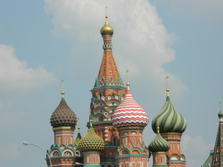 Russia. Moscow. Domes of St. Basil's Cathedral