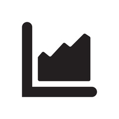 chart bar icon on white background - vector