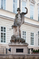 Statue of Amphitrite at the Market Square in Lviv, Ukraine