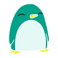 cartoon doodle of a cute penguin