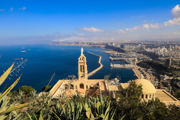 Foto op Plexiglas Noord Europa Panoramic View to the Oran Coastline, Algeria