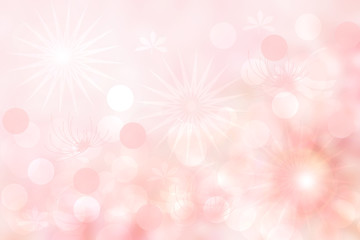 Abstract pink spring or summer flower background. Abstract bright flower background with beautiful pink flowers and space for design. Greeting card concept.