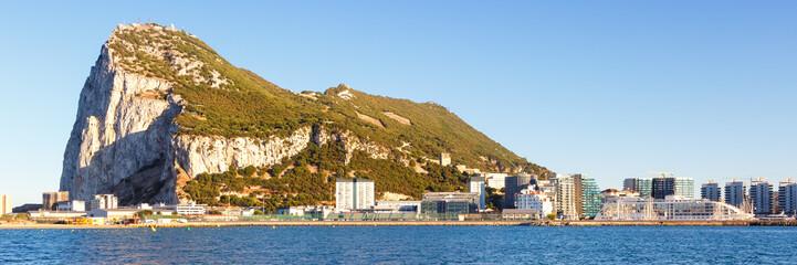 Gibraltar Panorama Landschaft Affenfelsen Felsen Fels The Rock Meer Mittelmeer Urlaub