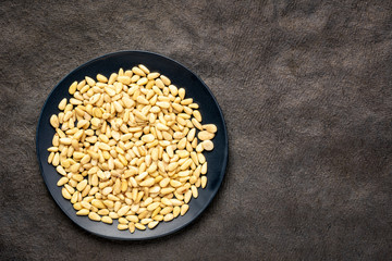 pine nuts on a plate