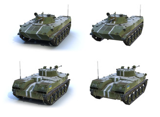 Fototapete - 3d-renders of BMD-2 of Armed Forces of Ukraine.