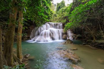 Huai Mae Khamin Waterfall tier 3, Khuean Srinagarindra National Park, Kanchanaburi, Thailand
