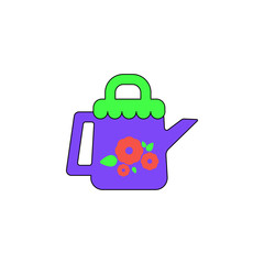 cartoon can sprinkling toy colored icon. Signs and symbols can be used for web, logo, mobile app, UI, UX