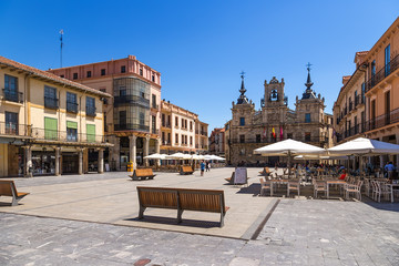 Astorga, Spain. Spain Square and Baroque Town Hall (1683-1748)