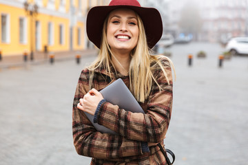 Beautiful young stylish blonde woman