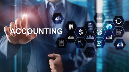 Accounting, Business and finance concept on virtual screen.