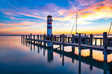 Podersdorf at the Lake is a market town in the district of Neusiedl am See in Burgenland in the east of Austria on the shore of the Neusiedler See and a popular holiday area