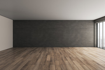 Contemporary interior with copyspace