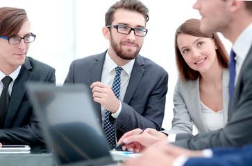background image of businessman at Desk