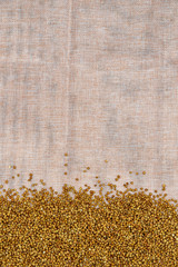 Buckwheat on light cloth