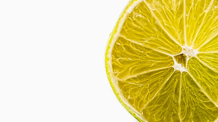 juicy fresh lime on a white background