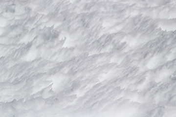 Background of snow.