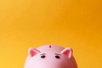 pink toy piggy money box Wall mural