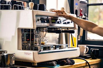 Barista and Espresso Machine