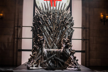 The Iron Throne sits on display at an interactive Game Of Thrones installation called Bleed For The Throne at the South by Southwest (SXSW) conference and festivals in Austin
