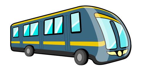 Isolated cartoon bus image. Public transport. Vector illustration design