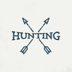 Hipster, Retro Hunting Logo Design Inspiration with arrowhead - Vector
