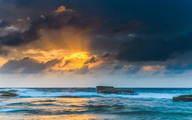 Golden Orb - Sunrise Seascape