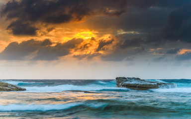 Fire in the Sky - Sunrise Seascape
