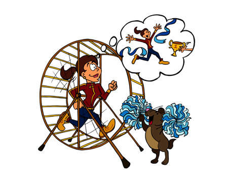 Running with a purpose the hamster wheel - Sophie