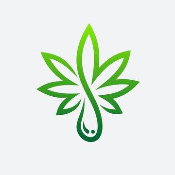 Cannabis Oi Logo Template