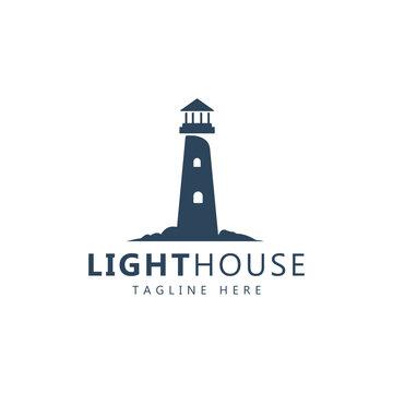 lighthouse logo for business, organization or website - Vector
