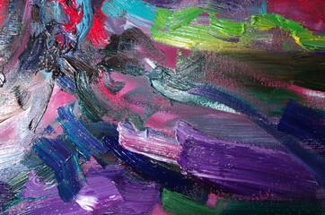 Colorful art palette. Close-up
