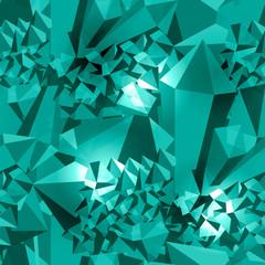 Emerald stone. Seamless pattern. Precious stone, gemstone, mineral.