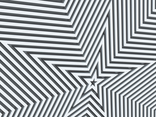 abstract geometric background with stars shapes, 3d rendering