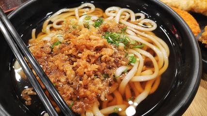 Japanese Udon noodles soup dish