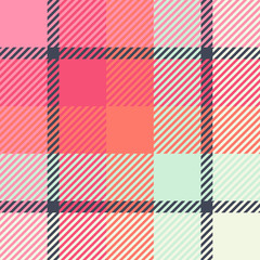 Plaid or tartan vector is background or texture in many color