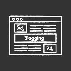 Blog advertising chalk icon