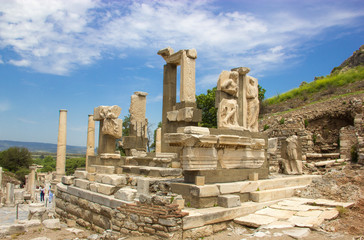 Archaeology, ancient ruins of Ephesus Turkey