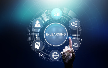 E-learning Online Education Training Webinar Seminar Personal Development and Professional growth.