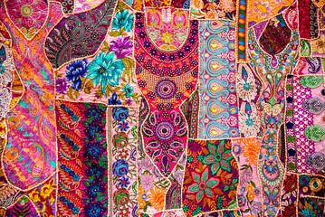 Indian patchwork carpet Fototapete