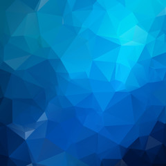 Blue Light polygonal illustration, which consist of triangles. Geometric background in Origami style with gradient. Triangular design for your business.