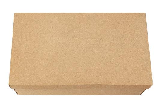 shoe box on white background