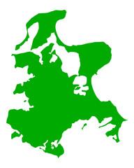 Karte von Rügen