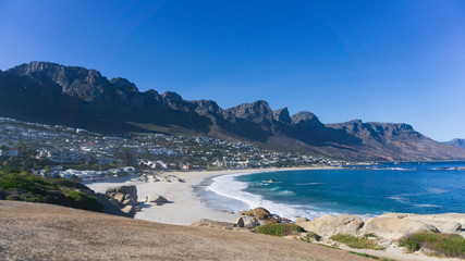 Beautiful beach, Camps Bay, Cape Town, South Africa