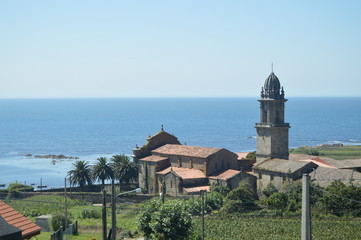 Monastery Of Santa Maria Of The Oia With Views To The Atlantic Ocean. Nature, Architecture, History, Travel. August 16, 2014. Oya, Pontevedra, Galicia, Spain. Wall mural