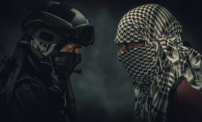 insurgency and police concept